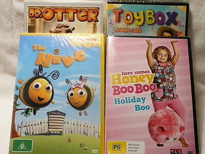 "Childrens Bundle, The Hive, Toybox, Honey Boo, Dr Otter, R4 ""new"" Auz Seller P2"