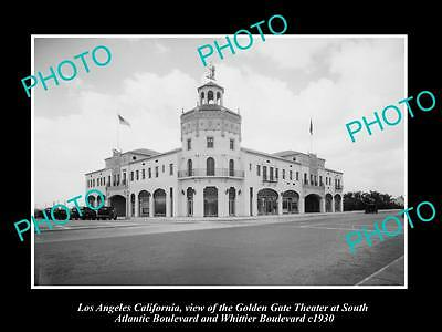 Old Large Historic Photo Of Los Angeles California, The Golden Gate Theater 1930