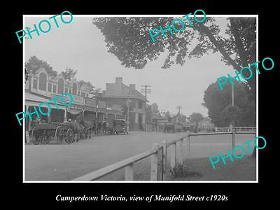 OLD LARGE HISTORIC PHOTO OF CAMPERDWN VICTORIA, VIEW OF MANIFOLD STREET c1920