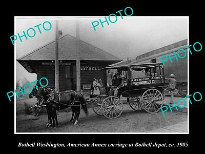 Old Large Historic Photo Of Bothwell Washington, The Railroad Depot Station 1905