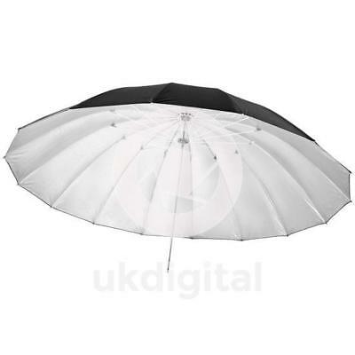 Nest NT-UR08BS Black / Silver Studio Fibreglass Umbrella 1.8m