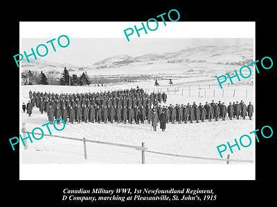 OLD LARGE HISTORIC PHOTO OF CANADIAN MILITARY 1st NEWFOUNDLAND REGIMENT St JOHNS