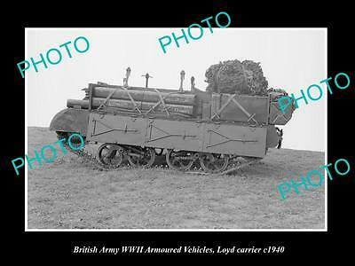 OLD LARGE HISTORIC PHOTO WWII BRITISH MILITARY, LLOYD ARMOURED VEHICLE c1940