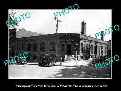 OLD HISTORIC PHOTO OF SARATOGA SPRINGS NEW YORK, THE SARATOGIAN NEWSPAPER c1930