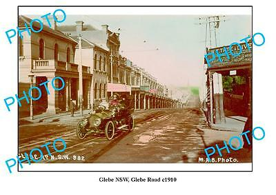 OLD LARGE PHOTO, GLEBE, SYDNEY NSW, GLEBE ROAD c1910