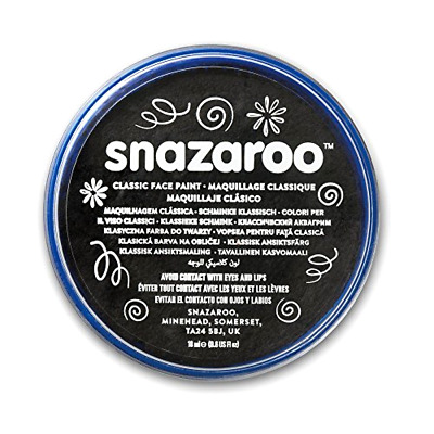 Snazaroo Classic Face Paint, 18ml, Black .