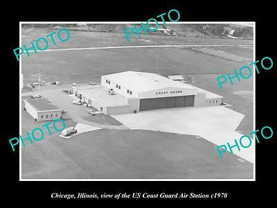 OLD LARGE HISTORIC PHOTO OF CHIACGO ILLINOIS, THE US COAST GUARD STATION c1970