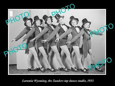Old Large Historic Photo Of Laramie Wyoming Sanders Tap Dance Studio Kids 1935 2