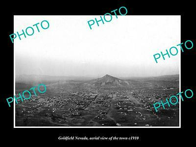 OLD LARGE HISTORIC PHOTO OF GOLDFIELD NEVADA, AERIAL VIEW OF THE TOWN c1910