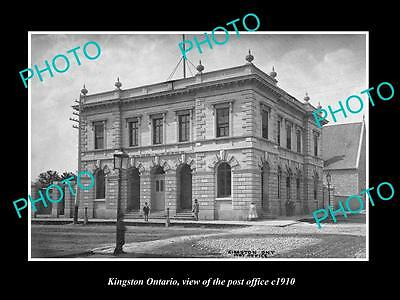 Old Large Historic Photo Of Kingston Ontario Canada, The Post Office 1910