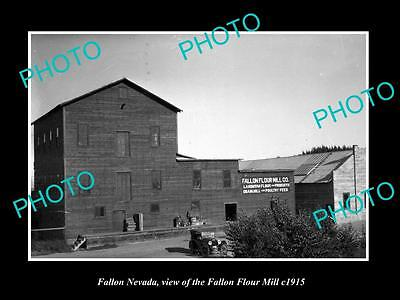 OLD LARGE HISTORIC PHOTO OF FALLON NEVADA, THE FALLON FLOUR MILL c1915