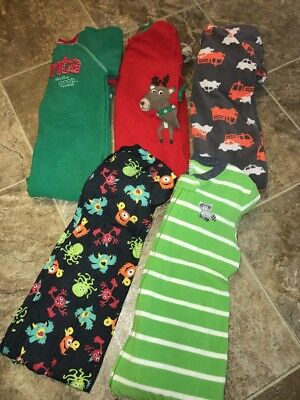 Boys 5 Pc Carter's Sleepers Pajamas Footed 5T #23