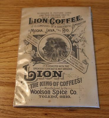 Vintage Lion Coffee Picture Card/ Lion Is The King Of Coffees/ Woolson Spice Co