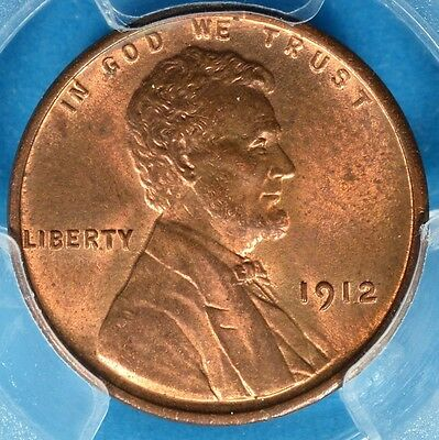 1912 Lincoln Wheat Cent PCGS MS64RB- Nice Looking Early Abe