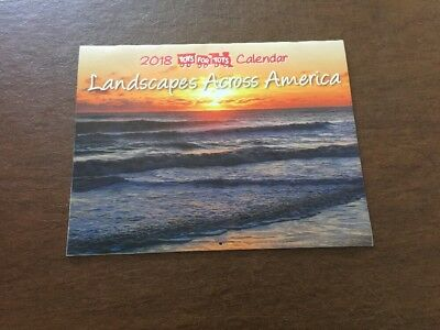 Landscapes across America 2018 Toys for tots Wall Calendar 2018 12-month New