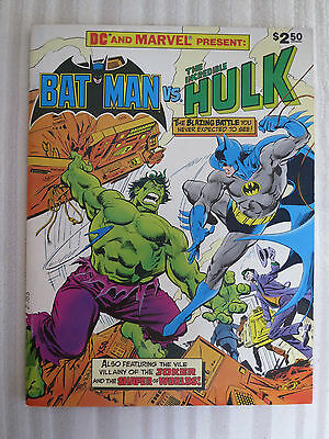 Batman vs Hulk - The Incredible - DC & Marvel Comics Treasury 1981 cents RARE