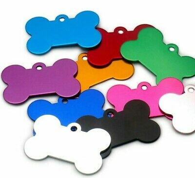 Dog & Cat PET Id Tag Colour Aluminium RED, BLUE, PINK CHEAP Half PRICE Engraved
