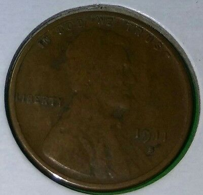 1911-S 1C  Lincoln Cent Vg Rare. Better Date