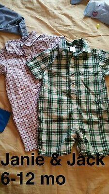 Janie and Jack Baby Boy Rompers • 6-12 mo