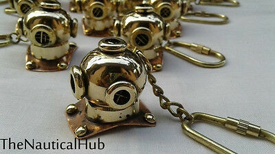 Beautiful Brass Mini diving Helmet Keychain/Keyring bast for gift