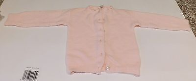 Vintage Julius Berger Orlon 1960's Era Infant Doll Baby Pink Knit Sweater
