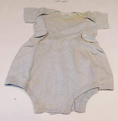 Vintage Carter 1950's 1960's Era Infant Doll Baby Boy Blue Romper Size 6 months