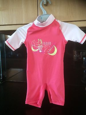 Girls Tribord Sunfilter All In One Sun/swim Suit  Size 18-24 Months