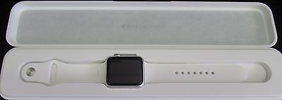 Apple Watch Series 1 (7000) 42 mm Silver Aluminum Case, White Sport Band
