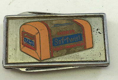 Old 1950s Advertising HOLSUM Bread SOF-TWIST Pocket Knife & File