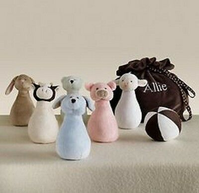 Restoration Hardware Baby And & Child Kid Infant Toddler Plush Bowling Set Toy
