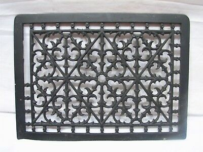 Cast Iron Floor Art Deco Register Heat Grate Vent Grille Architectural 7 X 10