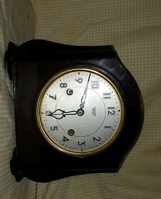 Smiths Enfield Bakelite 2Key Mantle Clock E.w.o Bk4
