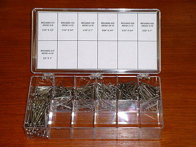 600 Piece Stainless Steel Cotter Pin Assortment
