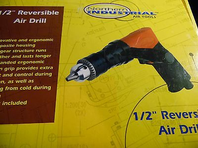 """1/2"""" Air Drill Reversible Pneumatic Power Compressor Auto Body NEW FREE SHIPPING"""