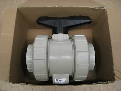 "New GF Georg Fischer 167546407 d25DN50 546 PROGEF 2"" PP-H EPDM 2-Way Ball Valve"