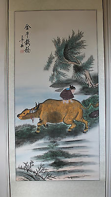 A Superb 169 cm 秦敬斌 Qin Jing Bin 2009 Chinese Painting Scroll Artist Stamped