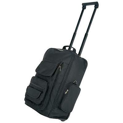 "19"" Black Trolley Bag, Backpack, Rolling Carry On"