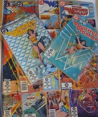 Wonder Woman Lot of 14 DC Comic Books Range between No.284 to No.304 w/ sleeves
