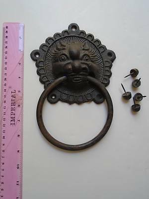 DOOR KNOCKER Lion cast iron