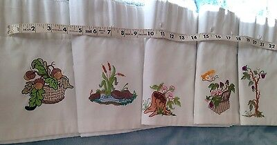 Embroidered Blackout Nursery Curtains With Valance.  Custom Made.