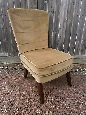 Vintage upholstered G Plan style bedroom / cocktail chair for re upholstery
