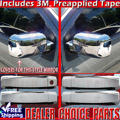 For 2009-2014 NISSAN CUBE Chrome Door Handle COVERS W//SK+Mirrors+Tailgate Trim