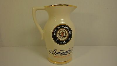Early Old Smuggler Scotch Whiskey Jug / Pitcher - Newark, N.j.