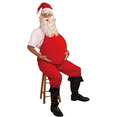 Big Inflatable Belly Mens Santa Claus Father Christmas Fancy Dress Costume Tummy