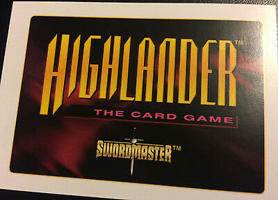Highlander the card game TCG, CCG, 2nd edition, Movie 1, Gathering, Complete Set