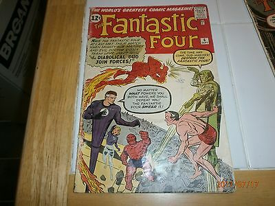 Fantastic Four # 6, 1st Mavel villain team-up, 2nd app. of Sub Mariner, Dr. Doom