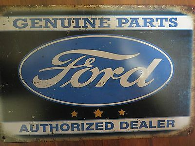 ford genuine parts authorized dealer   tin metal sign MAN CAVE brand new