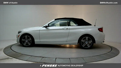 2017 BMW 2 Series 230i xDrive 230i xDrive 2 Series 2 dr Convertible Automatic Gasoline 2.0L 4 Cyl Mineral Whit