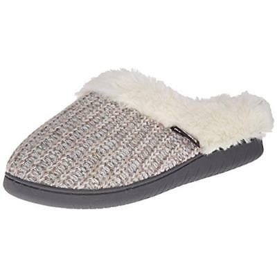 Muk Luks 4058 Womens Nordic White Malred Faux Fur Clog Slippers Shoes S 5-6 BHFO