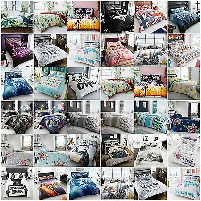 Best Printed Bedding Duvet Covers set with Pillow cases All Bed Size Quilt Cover